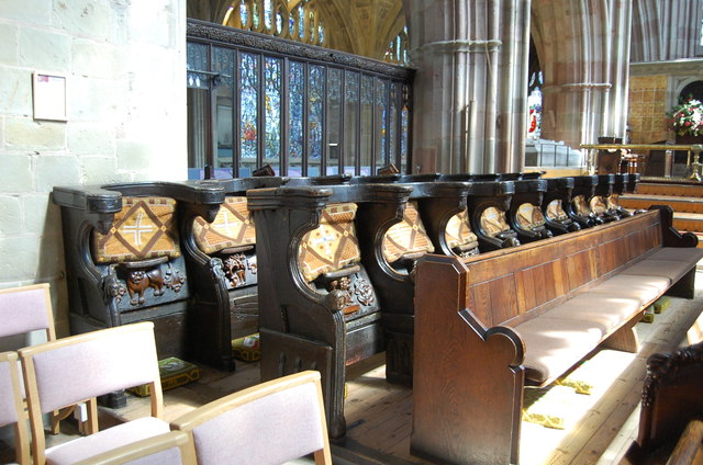 Monks' Stalls, Great Malvern Priory