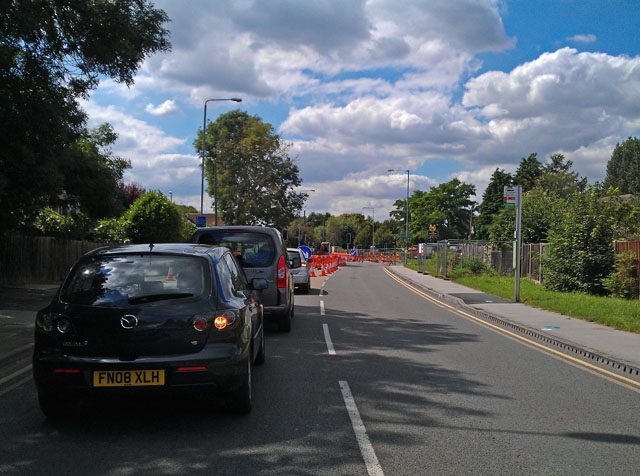 Queuing traffic on Queens Road West