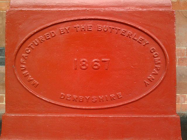 Butterley Company Plaque, St Pancras