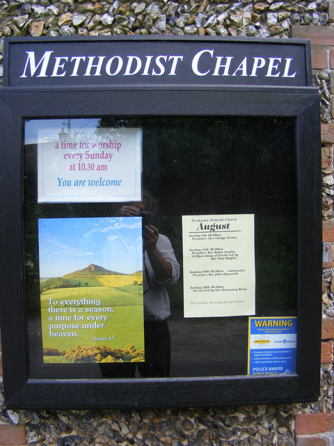 Wenhaston Methodist Chapel Notice Board
