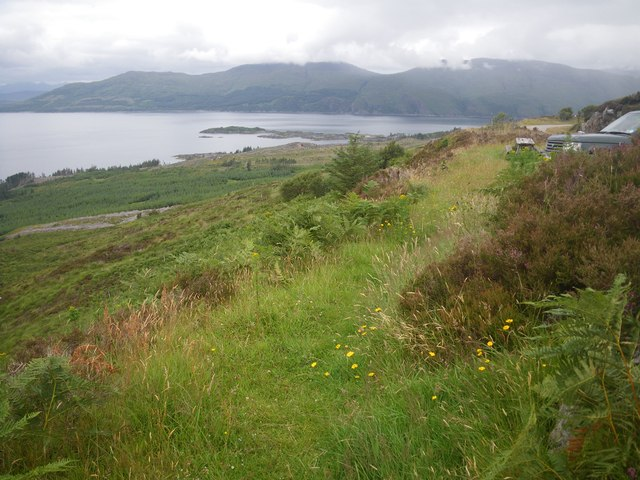 Coastal terrace scrubland along the Sound of Sleat