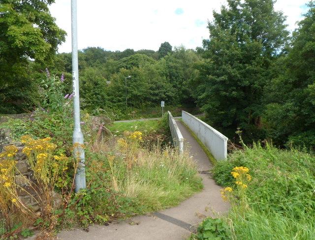 Footbridge over the Afon Lwyd, Chapel Lane, Cwmbran