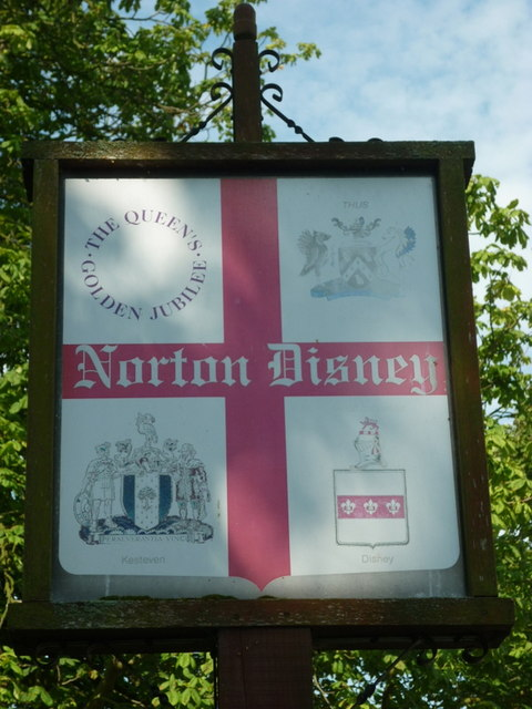 The Norton Disney village sign