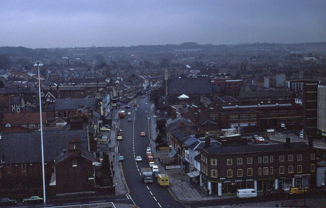 Elevated view of Reading in 1976 (1 of 3)