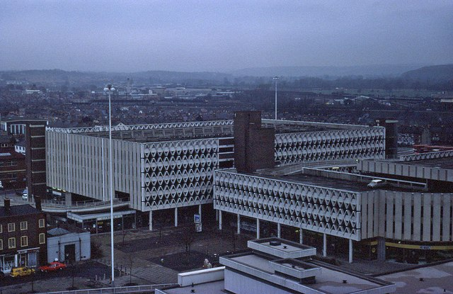 Elevated view of Reading in 1976 (2 of 3)
