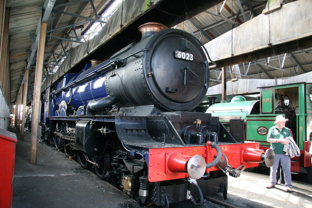 Didcot Railway Centre - the blue 'King'