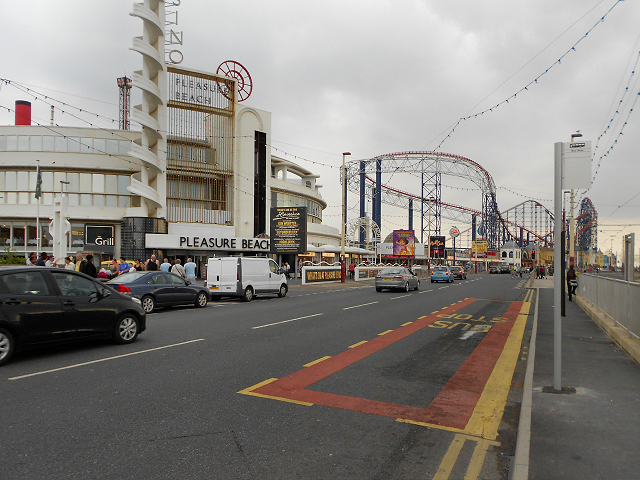 Blackpool Promenade (A584) and Pleasure Beach