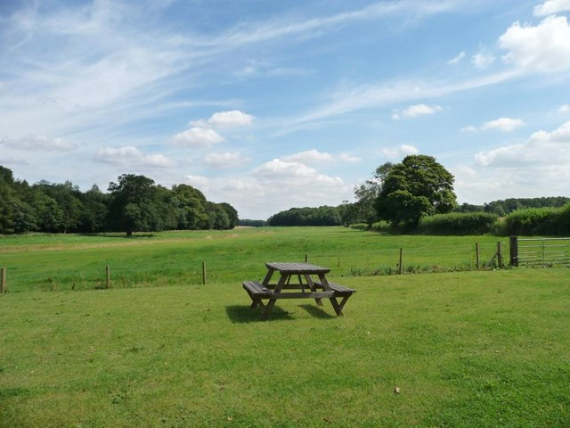Picnic spot at Hambleton bakery