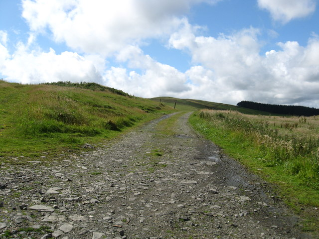 Track in to the fields