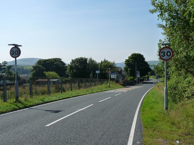 The B4560 approaching Beaufort