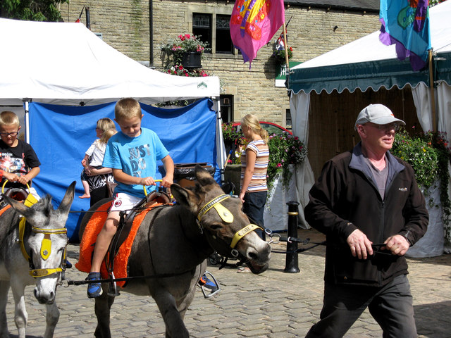 Barnoldswick:  Donkey riding at Barnoldswick 'Beach'