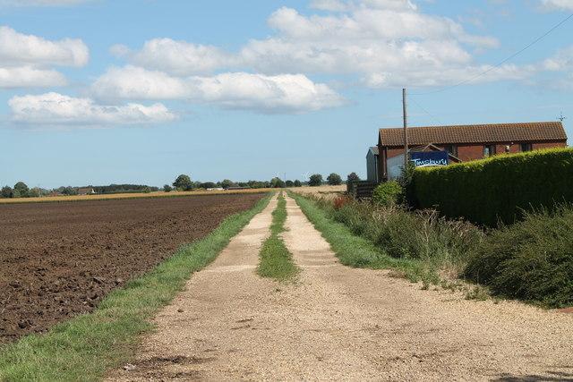 Public Footpath and Farm Track  off Halton Fen