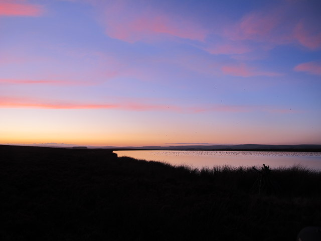 Hule Moss. Winter sunset (C) Tom Brewis :: Geograph Britain and ...: www.geograph.org.uk/photo/3091138