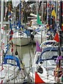 TQ9120 : Bunting and boats, Rye by Rob Farrow