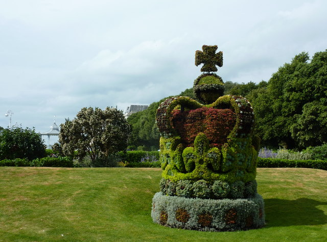 Floral display at Folkestone