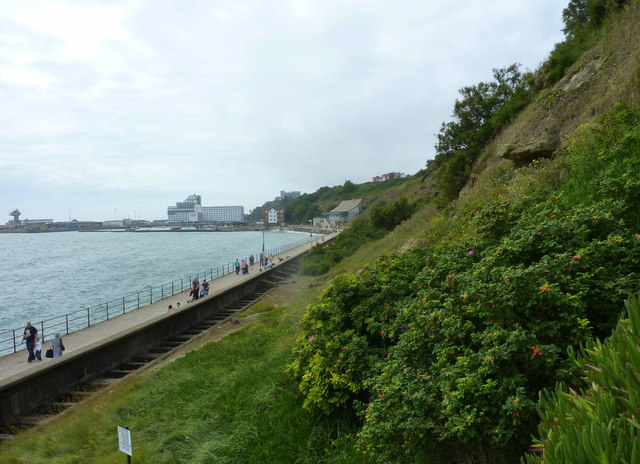 View from the steps at East Cliff, Folkestone