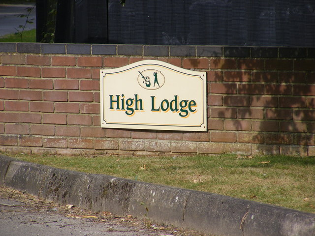 High Lodge sign