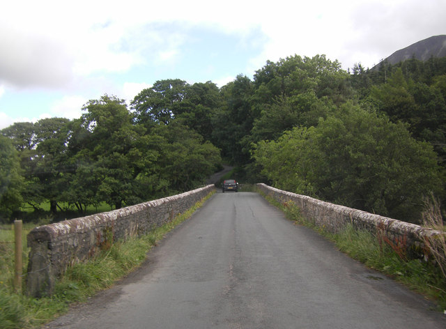 Scalehill Bridge crossing the River Cocker