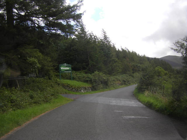 Entering Whinlatter Forest Park on the A5292