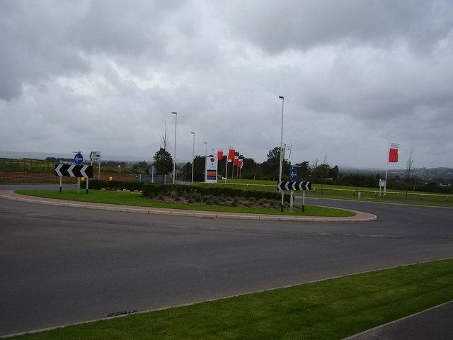 Cranbrook roundabout. New Town rising (1)