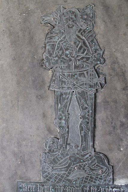 Brass of Sir Robert Dymoke, Scrivelsby church