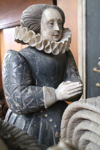 Bridget Manners, on Tomb of 4th Earl of Rutland, Bottesford Church