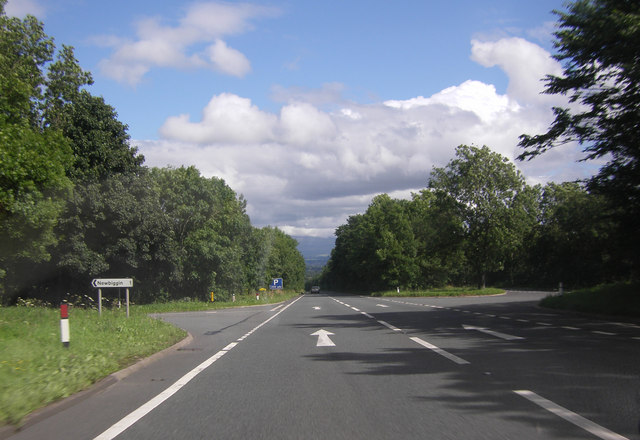 A66 by the turning for Newbiggin