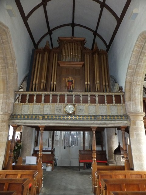 Gallery and organ in St Giles church