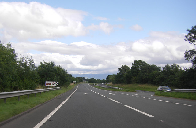 A66 eastbound, by the Dacre turning