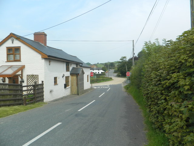 House at the junction of the A483 and the B4355
