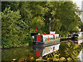 SD6225 : Narrowboat at Riley Green by David Dixon