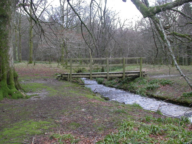 Holme Beck and footbridge