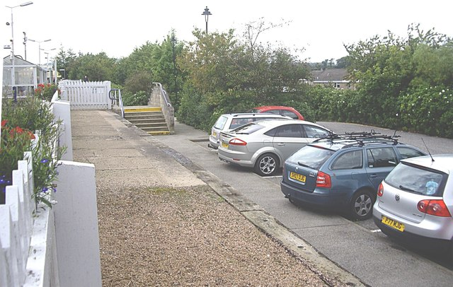 Down-line carpark, Stonehaven Station