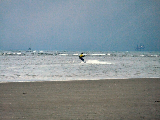 Wind-surfing off Salter's Bank