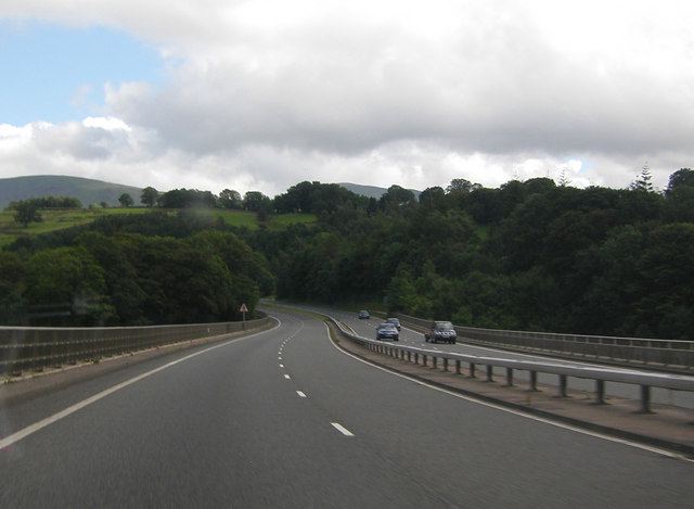 A66 crossing Greta Bridge