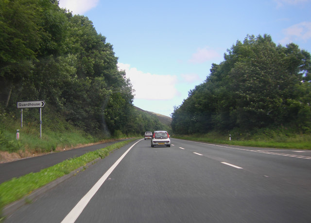 A66 by the turning for Guardhouse