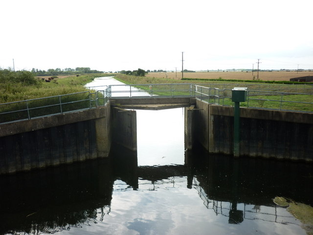 Sluice gates on the Kyme Eau