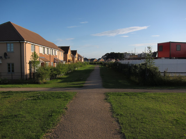 Footpath through new housing