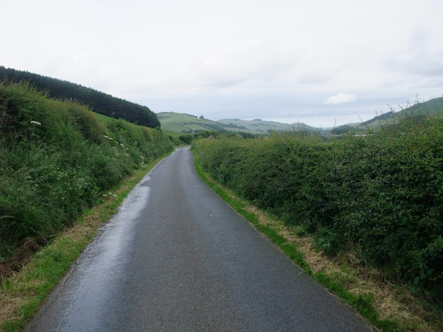 Minor road towards Town Yetholm