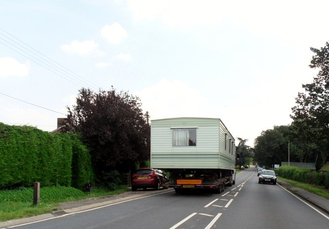 Wide load caravan at North Chailey