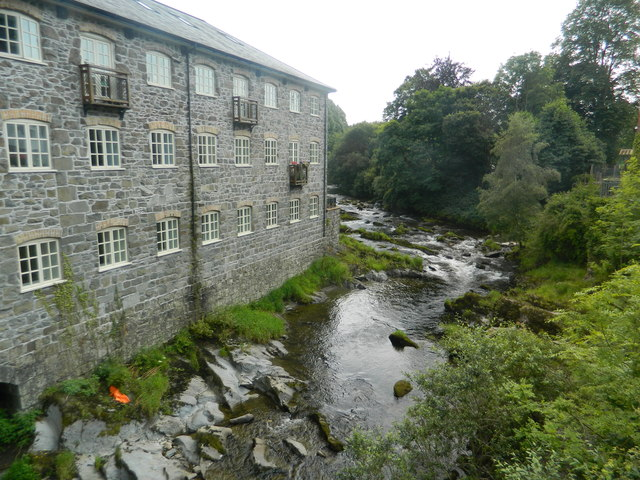 The former Bridgend Flannel Mill, Llanidloes