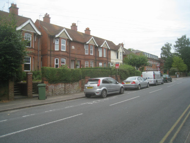 Houses along Worting Road