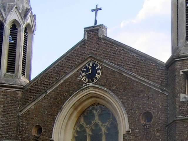 Clock of St Andrew's church, Ham Common