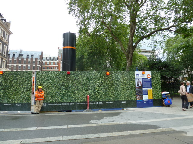 Crossrail site between Broad Street and Hanover Square