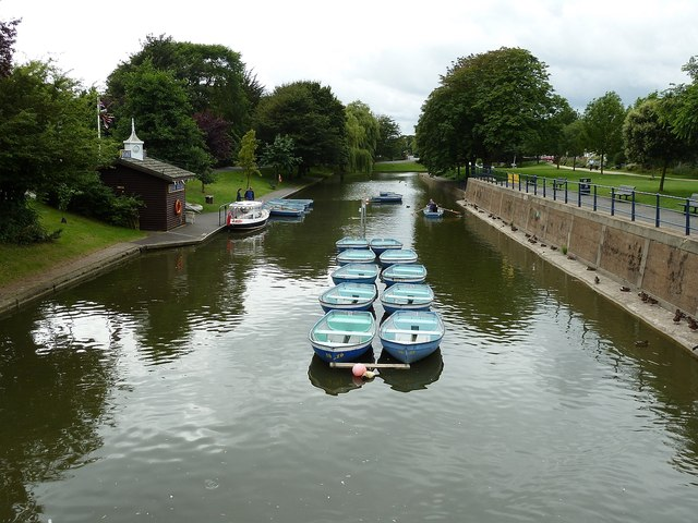 The Royal Military Canal, Hythe - view westwards