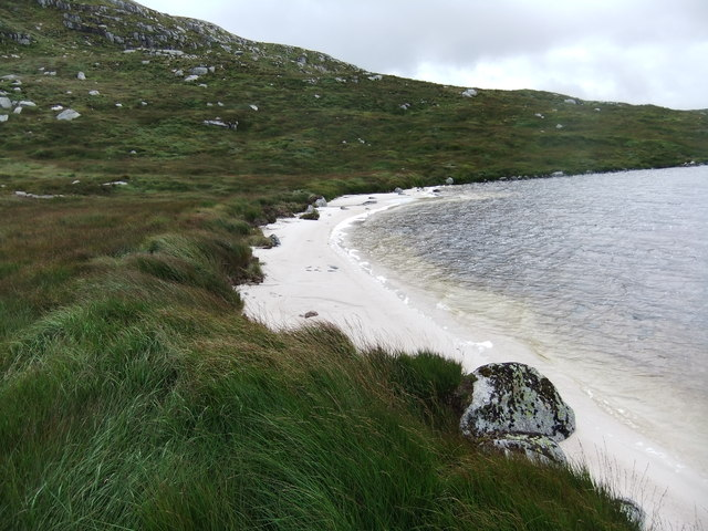 On the beach,Loch Neldricken