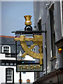 SX4854 : Sign for the Ship Inn, Plymouth, Devon by Christine Matthews
