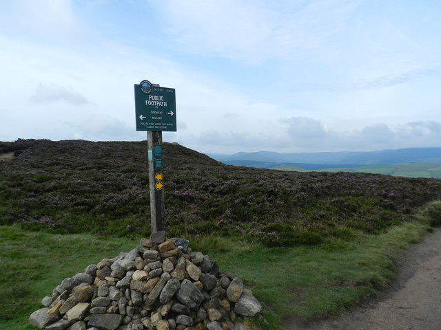PNFS sign on Derwent Moors