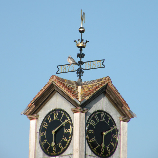 Jesus College boathouse clocktower