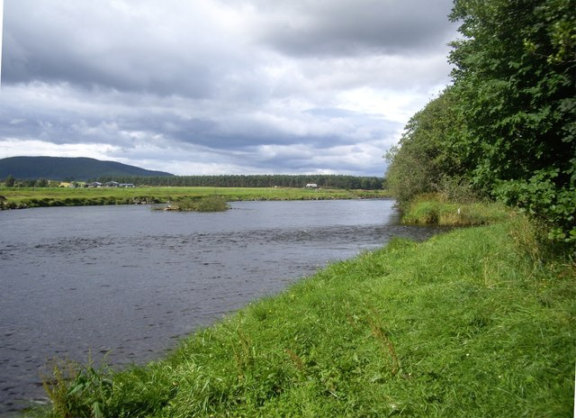 Upstream islet in River Dee
